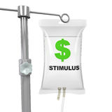 IV Bag Economic Stimulus Illustration Royalty Free Stock Photography
