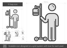 IV bag line icon. Royalty Free Stock Photo