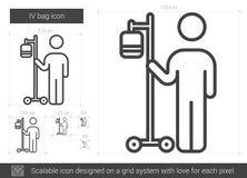IV bag line icon. Royalty Free Stock Photos