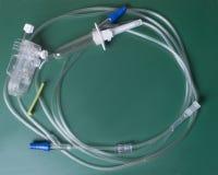 IV cateter no verde Fotografia de Stock Royalty Free