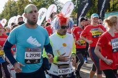 2016 09 25: IV de Marathon van Moskou Begin bij 10 km Royalty-vrije Stock Afbeeldingen