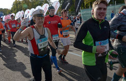 2016 09 25: IV de Marathon van Moskou Het begin van 42 2 km Royalty-vrije Stock Foto