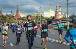 2016 09 25: IV de Marathon van Moskou 36-ste km-marathonafstand Royalty-vrije Stock Fotografie