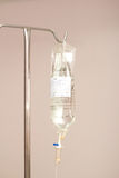 IV drip bag and pole Stock Photography