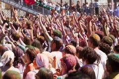 IV Festival de los colores Holi Barcelona Royalty Free Stock Images