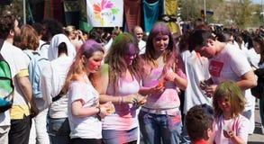 IV Festival de los colores Holi Barcelona Royalty Free Stock Image