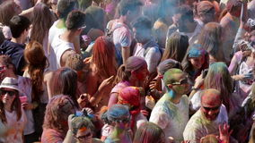 IV Festival de los colores Holi Barcelona stock video footage