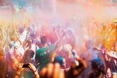 IV Festival de los colores Holi Barcelona Royalty Free Stock Photography