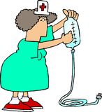 IV infirmière 2 Photo libre de droits