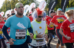 2016 09 25: IV maratón de Moscú Comience en 10 kilómetros Imágenes de archivo libres de regalías
