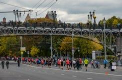 2016 09 25: IV maratón de Moscú 36.a distancia del maratón del kilómetro Foto de archivo libre de regalías