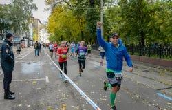 2016 09 25 : IV marathon de Moscou 24ème kilomètre de l'itinéraire de marathon Photo libre de droits