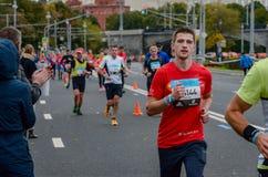 2016 09 25: IV maratona de Moscou distância da maratona do quilômetro do 36-th Fotos de Stock Royalty Free
