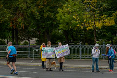 2016 09 25: IV maratona de Moscou distância da maratona do quilômetro do 36-th Imagens de Stock Royalty Free