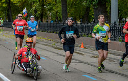 2016 09 25: IV Moskwa maraton th km maraton trasa Obrazy Royalty Free