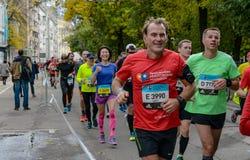 2016 09 25: IV Moskwa maraton th km maraton trasa Zdjęcie Royalty Free