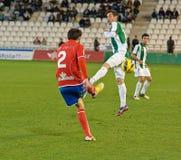 Iván Malón  in action during match league Royalty Free Stock Photos