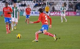 Iván Malón R(2) in action during match league Cordoba(W) vs Numancia (R) Royalty Free Stock Image