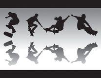 iv-silhouettesskridsko Royaltyfri Fotografi