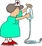 IV Verpleegster 2 royalty-vrije illustratie