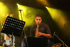 Iva Barčić. Very Naiss Band Nisville Jazz Festival, 2017, Ni royalty free stock image