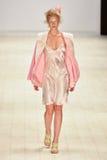 Iva Pfeiffer fashion show Stock Images
