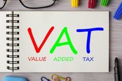 IVA scritta sul taccuino illustrazione di stock