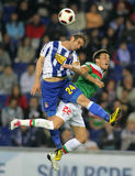 Ivan Alonso fights with Castillo Royalty Free Stock Photo