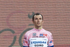 Ivan Basso: italian national anthem Royalty Free Stock Images