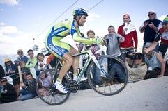 Ivan Basso Plan de Corones Kronplatz. Giro d\'Italia 2010 in Plan de Corones Stock Photos