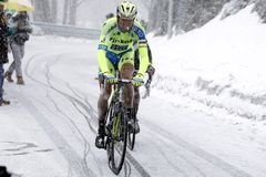 Ivan Basso rise in Terminilo Royalty Free Stock Photo