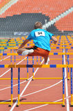 Ivan Bogun jumps over the barriers Stock Photography