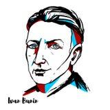 Ivan Bunin Portrait ilustração do vetor