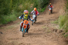 Ivan Chirkov 1. MOSCOW, RUSSIA - SEPTEMBER 10, 2016: Ivan Chirkov 1 Dynamite Racing, class `Country Kidz`, in the 4 stage of the XSR-MOTO.RU Cross Country in royalty free stock photo