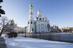 Ivan de grote complexe klokketoren Kathedraalvierkant, binnen van Moskou het Kremlin, Rusland Stock Afbeeldingen