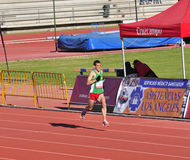 IVAN GALAN Bardere, reaching the finish line Royalty Free Stock Photo