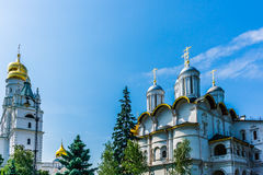 Ivan The Great belfry and Patriarch's palace of Moscow Kremlin Stock Photo