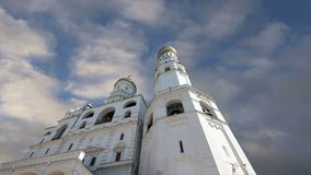 Ivan the Great Bell  against the sky. Moscow Kremlin, Russia. UNESCO World Heritage Site stock video footage