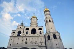 Ivan Great Bell-toren van Moskou het Kremlin De Plaats van de Erfenis van de Wereld van Unesco stock foto
