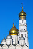 Ivan the Great bell tower, Arkhangels cathedral. Royalty Free Stock Photo