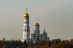Ivan the Great bell tower belfry of Moscow Kremlin stock images