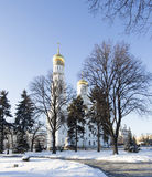 Ivan the Great Bell-Tower complex. Cathedral Square, Inside of Moscow Kremlin, Russia Royalty Free Stock Photography