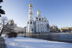 Ivan the Great Bell-Tower complex. Cathedral Square, Inside of Moscow Kremlin, Russia Stock Images