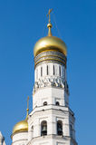 Ivan the Great bell tower dome against a blue sky Royalty Free Stock Image