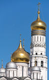 Ivan the Great Bell Tower and the dome of the Archangel cathedra Stock Photos