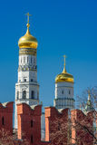Ivan the Great Bell Tower and Moscow Kremlin Stock Images