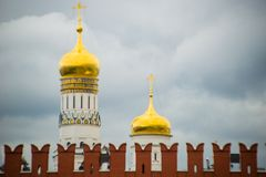 Ivan The Great Bell Tower in Moscow Kremlin royalty free stock photo