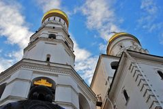Ivan Great bell tower of Moscow Kremlin. Low angle view. Royalty Free Stock Photography