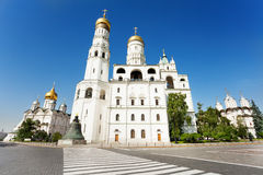 Ivan the Great Bell Tower near walkway Stock Images