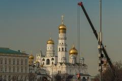 Ivan il grande campanile in Cremlino di Mosca in Russia Immagini Stock Libere da Diritti